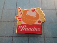 Pin713A Pin´s Pins / Beau Et Rare : ALIMENTATION / FARINE FRANCINE BABA AU RHUM - Alimentation