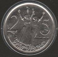 ETHIOPIA 25 Santeem 2000 (2008)  KM# 46.3b Lion Head - Ethiopia