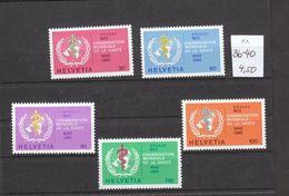 Schweiz  **  36-40 Internationale Ämter WHO OMS Katalog  4,50 - Nuovi