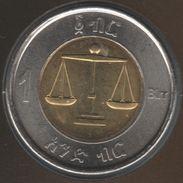 ETHIOPIA 1 BIRR 2002 (2010) KM# 78 Lion Head Bi-Metallique - Ethiopia