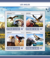 NIGER 2017 ** Eagles Adler Aigles M/S - OFFICIAL ISSUE - DH1728 - Adler & Greifvögel