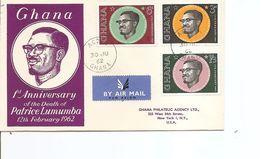 Célébrités -Lumumba ( FDC Du Ghana De 1962 à Voir) - Celebrità