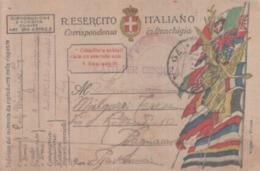 VENDO N.1 CARTOLINA MILITARE IN FRANCHIGIA,DELLA SEZIONE AUTONOMA LANCIAFIAMME,CON POSTA NILITARE.N.70 PERFETTA - War 1914-18