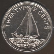BAHAMAS 25 CENTS 2005 KM# 63.2 BATEAU Bahamas Sloop - Bahamas