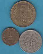BULGARIA LOT 3 COINS 1925-1974 - Bulgarie