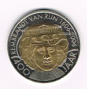 )  PENNING 400 JAAR REMBRANDT VAN RIJN 1606 - 2006 LEIDEN 2 REMBRANDT - Elongated Coins