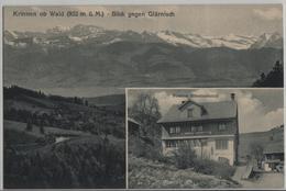 Krinnen Ob Wald - Blick Gegen Glärnisch - Pension Glärnisch - Photo: Carl Künzli No. 4398 - ZH Zurich