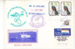 South Africa 1990 MV Agulhas Voyage 62 Cover  (36415) - Postzegels