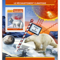 TOGO 2017 ** North Pole Global Warming S/S - OFFICIAL ISSUE - DH1728 - Fauna Artica
