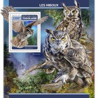 TOGO 2017 ** Owls Eulen Hiboux S/S - IMPERFORATED - DH1728 - Eulenvögel