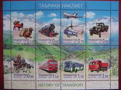 Tajikistan  2007  History Of Transport  M/Sheet PERFORATED   MNH - Tadschikistan