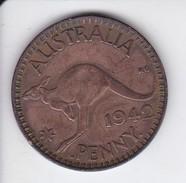 MONEDA DE AUSTRALIA DE 1 PENNY DEL AÑO 1942 CANGURO (KANGAROO) - Moneda Pre-decimale (1910-1965)