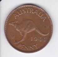 MONEDA DE AUSTRALIA DE 1 PENNY DEL AÑO 1944 CANGURO (KANGAROO) - Moneda Pre-decimale (1910-1965)