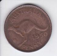 MONEDA DE AUSTRALIA DE 1 PENNY DEL AÑO 1950 CANGURO (KANGAROO) - Moneda Pre-decimale (1910-1965)