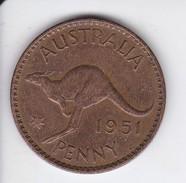 MONEDA DE AUSTRALIA DE 1 PENNY DEL AÑO 1951 CANGURO (KANGAROO) - Penny