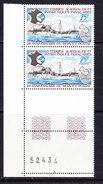 TAAF 1974 25e Ann. Du Service Postal 1v (pair+margin)  ** Mnh (36417C) - Franse Zuidelijke En Antarctische Gebieden (TAAF)