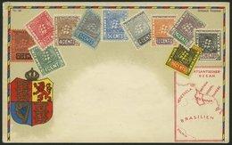 BRITISCH - GUIANA Ca. 1900, Briefmarkenserie, Gebrauchte Karte, Pracht - Britisch-Guayana (...-1966)