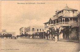 CPA Djibouti Souvenir De Place Ménélik Afrique - Gibuti