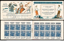 Timbres Non Oblitérés Type Jeanne D'Arc 1929 Carnet  Publicitaire - Commémoratifs