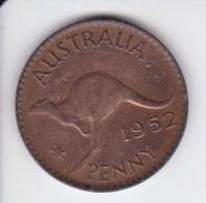 MONEDA DE AUSTRALIA DE 1 PENNY DEL AÑO 1952 CANGURO (KANGAROO) - Moneda Pre-decimale (1910-1965)