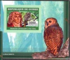 Guinée 2006 François LEVAILLANT Bird Oiseau Owl Hiboux BF Luxe Carton - Célébrités