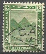 Egypt - 1921 Giza Pyramids 4m Used  SG 88   Sc 65 - Egypt
