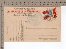 Correspondance Des Armées De La République - Carte En Franchise - Weltkrieg 1914-18