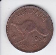 MONEDA DE AUSTRALIA DE 1 PENNY DEL AÑO 1956 CANGURO (KANGAROO) - Penny