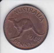 MONEDA DE AUSTRALIA DE 1 PENNY DEL AÑO 1962 CANGURO (KANGAROO) - Moneda Pre-decimale (1910-1965)