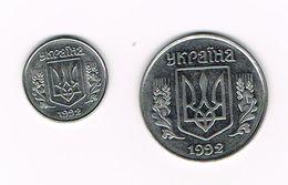 ) OEKRAINE  1 KOPIYKA En 5 KOPIJOK  1992 - Ukraine