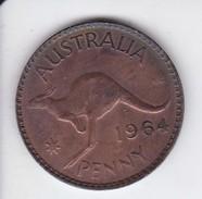 MONEDA DE AUSTRALIA DE 1 PENNY DEL AÑO 1964 CANGURO (KANGAROO) - Moneda Pre-decimale (1910-1965)