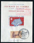 France - Vignettes - Bloc Souvenir Du Havre Non Dentelé, De 1963 - Ref JJ 156 - Souvenir Blocks & Sheetlets