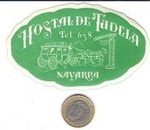 ETIQUETA DE HOTEL  - HOSTAL DE TUDELA  -NAVARRA - Hotel Labels
