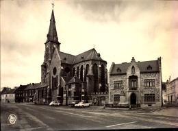 Ham-Sur-Heure PLace Communale Et église - Photo Véritable - NELS, Edition Brassini-Dubois N°1 - Ham-sur-Heure-Nalinnes