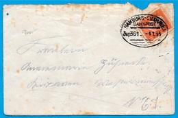 Lettre Allemagne 1933 Cachet HAMBURG-CUXHAVEN Ambulant BAHNPOST - Deutschland