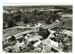 17011    CPM   AUBIGNE - RACAN  : La Gare , Vue Aérienne  , Superbe Carte Photo !!! ACHAT DIRECT  !! - Frankrijk