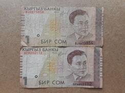 Kirghizistan 1 Som 1999 (Lot De 2 Billets) - Kirghizistan