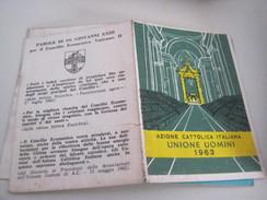 TESSERA AZIONE CATTOLICA ITALIANA UOMINI 1963 - Documenti Storici