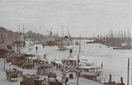 STETTIN → Hafen Mit Tram, Fuhrwerke, Segelschiffe & Dampfschiffe, Fotokarte Ca.1930 - Polen
