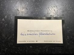 17V - Alexandre Frédéric Oostacker Léa Gand - Visiting Cards