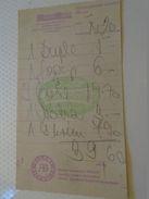 AD024.10 Hungar Hotels  Invoice  Bill - Coffee  Ice Cream Cola Rapsberry 39,60 HUF - Különlegesggégi Cukraszda - Ca 1960 - Facturas & Documentos Mercantiles