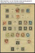 SAMMLUNGEN O,* , 1850-1937, Alter Sammlungsteil Österreich Mit Diversen Guten Mittleren Ausgaben, Erhaltung Feinst/Prach - Sammlungen