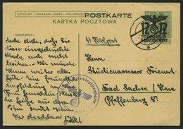 GENERALGOUVERNEMENT P 6II BRIEF, 1940, 12 Gr. Ganzsachenkarte Aus Lublin Mit Briefstempel SS Totenkopfstandarte, Pracht - Besetzungen 1938-45