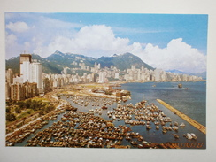 Postcard Victoria Looking Down From East District Hong Kong My Ref B21682 - China (Hong Kong)