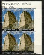ANDORRA.EUROPA 2017: Castell (Château) De Les Bons, BLOC DE 4 NEUFS ** Bord De Feuille - Europa-CEPT