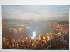 Postcard Hong Kong By Night Glimmers Like Stars My Ref B21683 - China (Hong Kong)