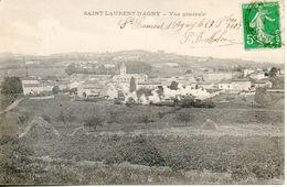 69. Saint Laurent D'agny. Vue Générale. Passage Du Train - France