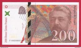 Billet Factice De La Banque De France - Coupure De 200 Francs - Type Gustave Eiffel - France