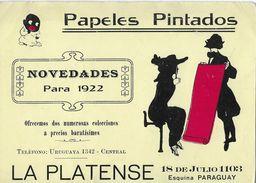 PAPELES PINTADOS → Novedades Para 1922, LA PLATENSE 18 De Julio 1103  ►RRR◄ - Uruguay