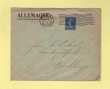 Obliteration Flier - Paris RP Depart - 13-7-10 - Destination Allemagne - Postmark Collection (Covers)